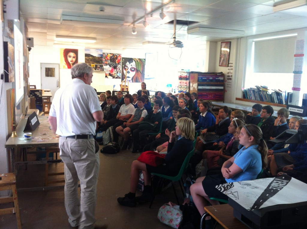 50 kids, one Mr Booth explaining why that red box with a thing called a telephone is such a thing of beauty.