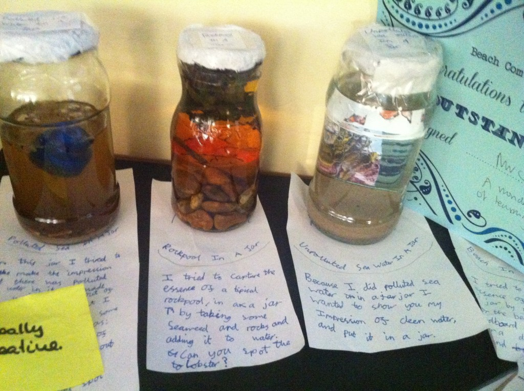 Rock pools in a jar!
